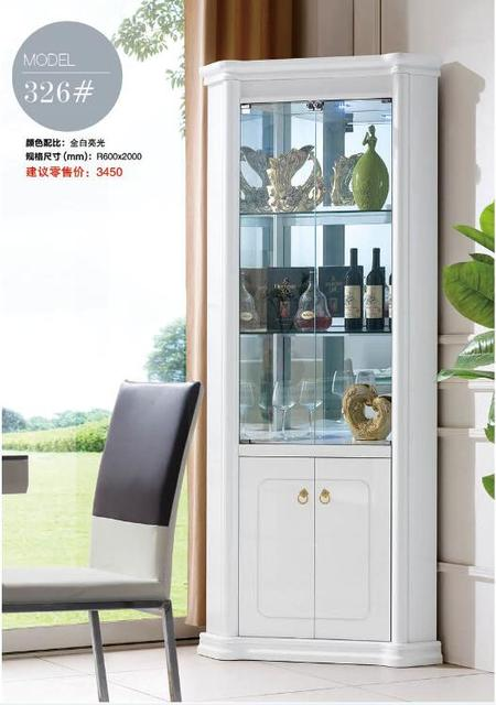 Good 326# Living Room Furniture Wine Cabinet Display Corner Showcase Wine Cooler  Round Wine Cabinet