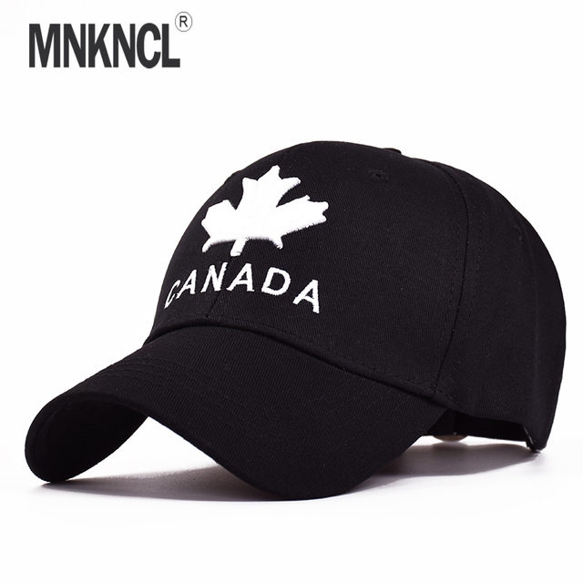 000647e0b0acf MNKNCL 2018 New Brand CANADA Letter Cotton Embroidery Baseball Caps  Snapback Hat For Men Women Leisure