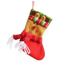 hot christmas candy bag christmas santa snowman sock candy gift bags party items candy bag 1 st each section