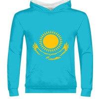 KAZAKHSTAN male diy free custom made name photo kaz zipper sweatshirt nation flag kz russian kazakh country college boy clothes