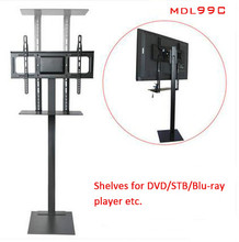 32-70 inch LCD LED Plasma Monitor TV Mount Floor Stand Tilt Swivel AD Display Wire Management Height Ajustable MDL99C 32 60 inch lcd led plasma tv mount floor display stand carts trolley with dvd holder and camera holder