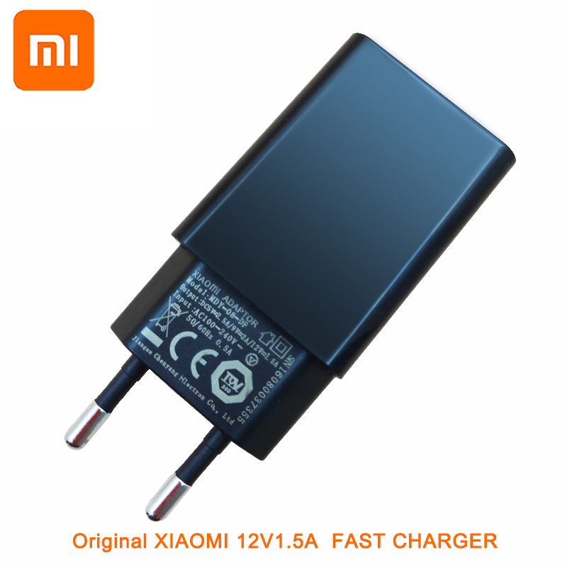 Original Xiaomi QC 3.0 Quick <font><b>Charger</b></font> <font><b>12V</b></font> <font><b>1.5A</b></font> EU US Fast Charge Adapter for Mi 9 8 6 Mix 5s 5c 5 4s 4 Note 2 Redmi 3 3s 4a Note image