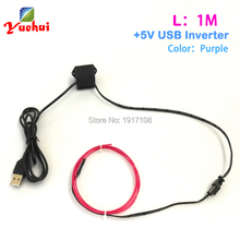 Clothing Cable-Strip Neon-Light Party-Decoration Purple El-Wire-Rope-Tape Festival Glow