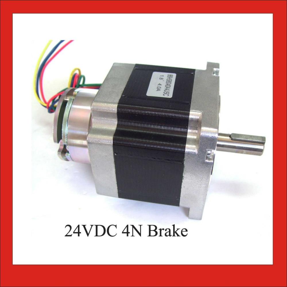 цена на NEMA 34 Stepper Motor 24VDC 2N (278oz-in) Brake Stepper Frame 86mm 4-lead 80mm Body Length Nema34 Brake