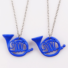 HOT SELL How I Met Your Mother Yellow Umbrella mother Blue French Horn Necklace Pendant best Christmas gifts