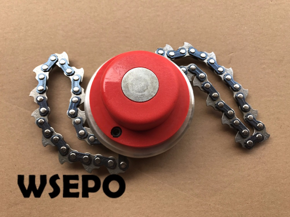 OEM Quality! String Head with Chain for most universal Brush Cutter. Gasoline Trimmer Chain type Grass Splashing Head 28mm 7 spline brush cutter grass trimmer gear head box