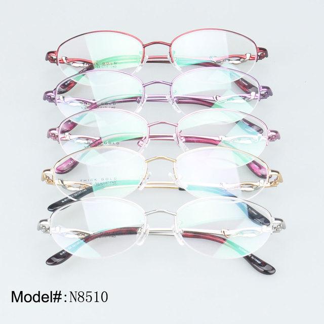 N8510 design Mais fashional mulher metade aro da armação óptica óculos óculos óculos de miopia