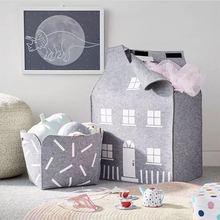 Сумка для хранения в скандинавском стиле для игрушек, одежда для мальчиков, детский органайзер для комнаты, сумка из войлока, сумка для хранения в доме, сумка-подставка для детей