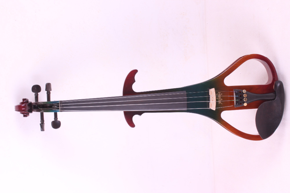 4 string many color     4/4 Electric Violin Silent Pickup Fine tone Solid wood3# the item is the color can choose color one 4 string 4 4 violin electric violin acoustic violin maple wood spruce wood big jack green color
