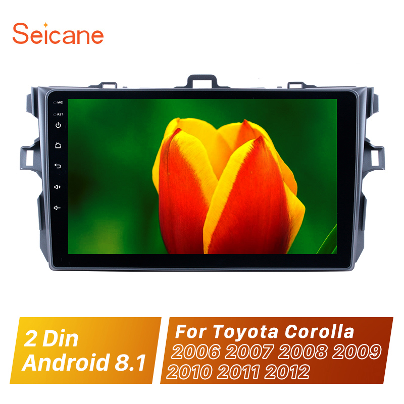 Seicane Car Radio For <font><b>Toyota</b></font> <font><b>Corolla</b></font> 2006 2007 2008 2009 2010 <font><b>2011</b></font> 2012 Android 8.1 9inch 2 Din GPS Navigation <font><b>Multimedia</b></font> Player image