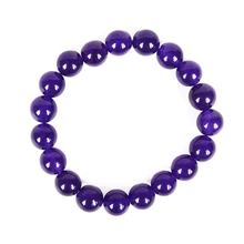 Violet  Bead Deep and mysterious design 10 MM Monochromatic Mauve Jasper Smooth Bracelet.Ball exclusive