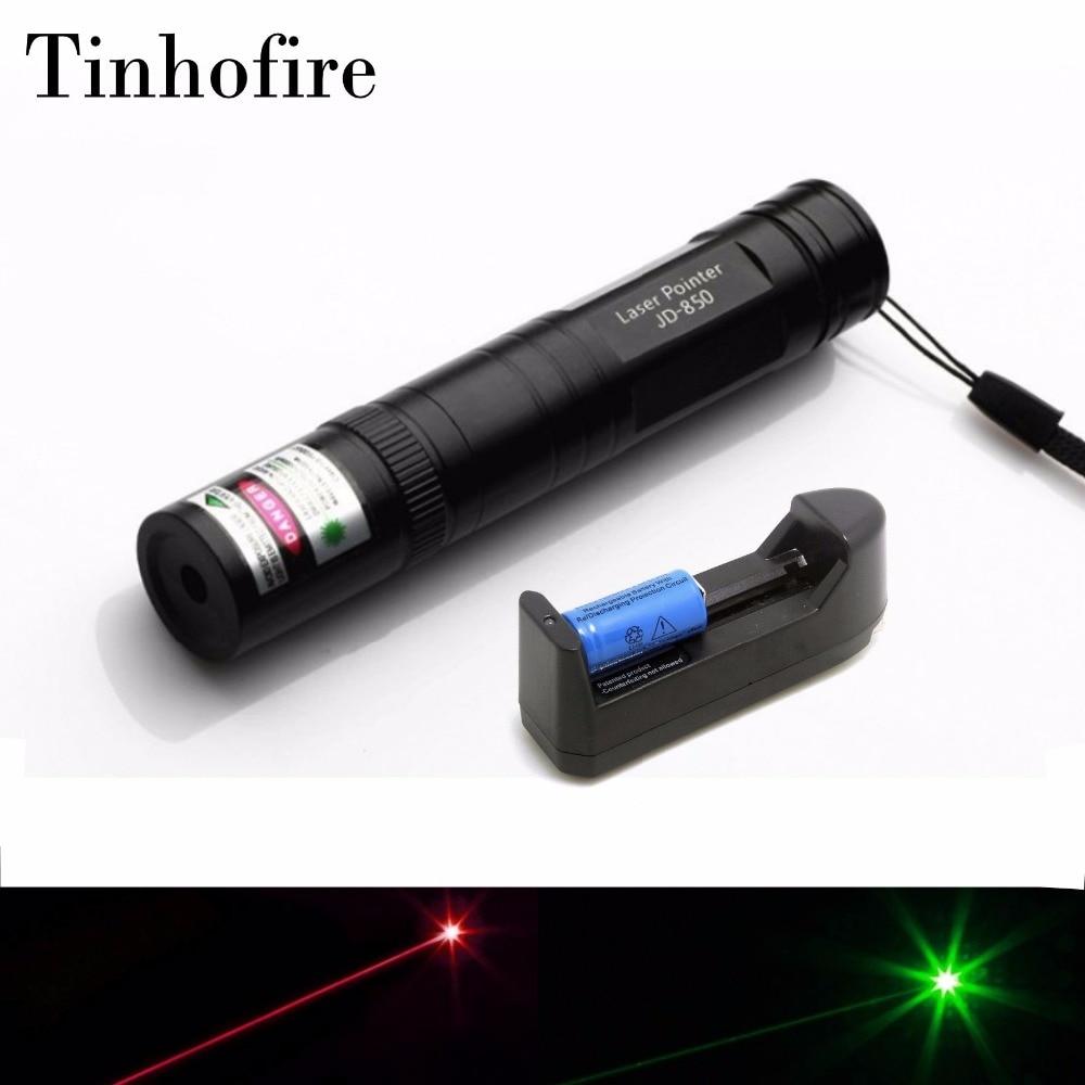 Tinhofire Laser 850 5mw Lamp Laser Pointer Pen 532nm Green 650nm Red 10000 Meters Flashlight Laser 16340 Battery