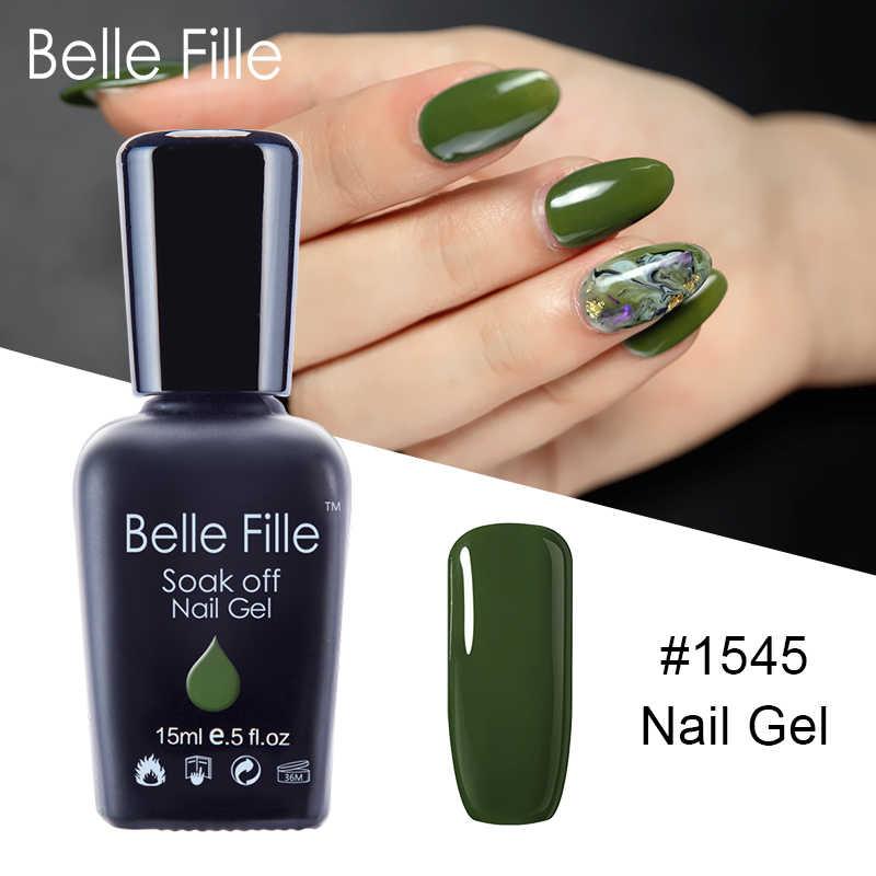 Belle Fille Uv Gel Nail Polish Olive Green Uv Soak Off Nail