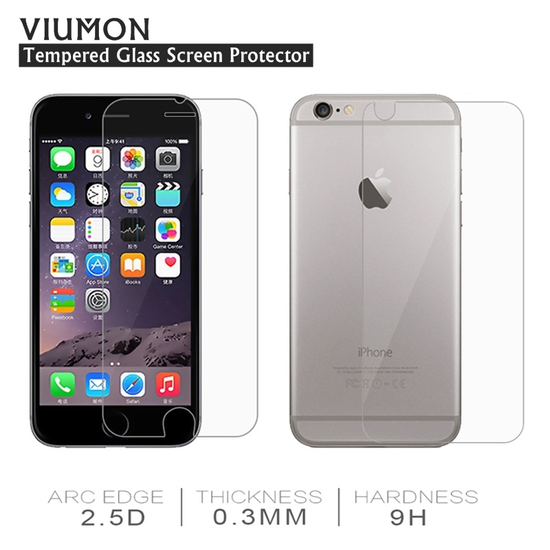 2Pcs Front Back Screen Protector for iPhone 5s 5c SE 4 4s 6 s 7 Plus Tempered Glass for iPhone 7 6 6s Plus Protective Glass Film