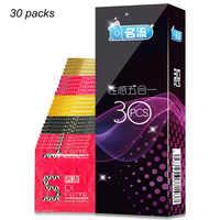 30pcs Mingliu 5 Types Penis Condoms Sexy Latex Dots Pleasure Natural Rubber Condones Male Contraception Penis Sleeve