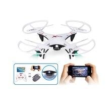 Drone dapat dengan kamera 6039 4CH 2.4 GHz LCD Remote Control Quadcopter UFO RTF dengan lampu led 360 derajat eversi rc mainan model hadiah