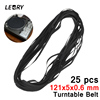 LEORY 25PCS 121x5x0 6 Rubber Turntable Belt Wholesale LP Phonograph Belt Fit For Universal Record Player