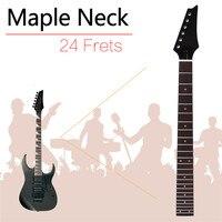 Zebra 1Pcs 680mm 24 Fret Brown Electric Guitar Neck Square Heel Rosewood Fretboard For Electric Guitar