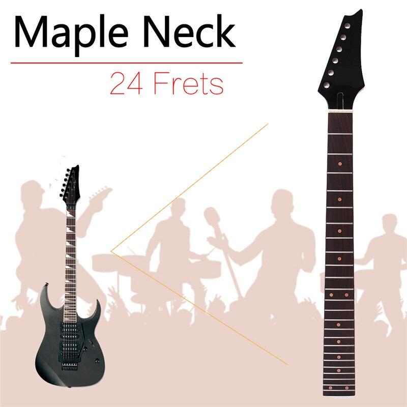 Zebre 1 pcs 680mm 24 frette marron guitare électrique cou carré talon palissandre Fretboard pour guitare électrique pièces & accessoires