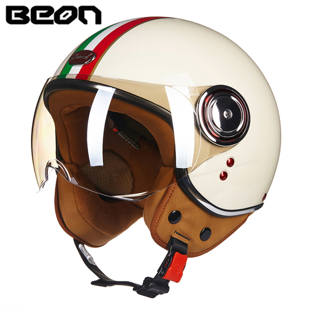 Motorcycle Helmet Chopper 3/4 Open Face Vintage Helmet 1056 Vespa Moto Casque Casco motocicleta Capacete Unisex Helmets European недорго, оригинальная цена