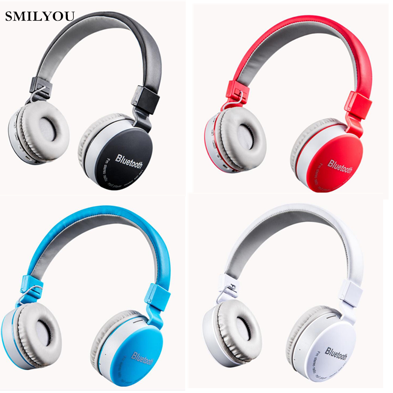 SMILYOU 4.1 Bluetooth headphones wireless Stereo earphone headset handsfree AUX music with MIC for iphone xiaomi PC Notebook remax bluetooth 4 1 wireless headphones music earphone stereo foldable headset handsfree noise reduction for iphone 7 galaxy htc