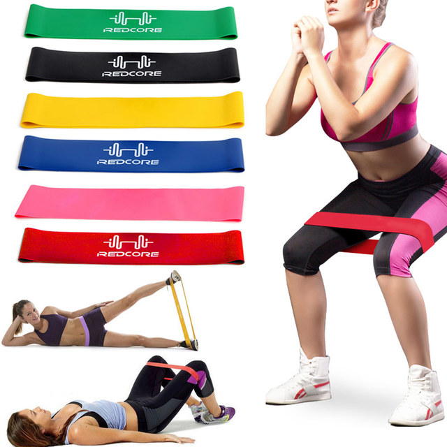 a28d5a952006 6 Pcs Set Fitness Rally Stretch Band Natural Latex Strength Training  Resistance Exercise Loop Bands