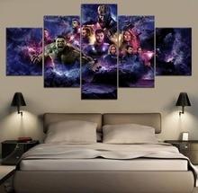 Avengers Endgame Movie 5 Piece Paintings Wall Art HD Print Home Modern Decor Canvas Painting Room Artwork