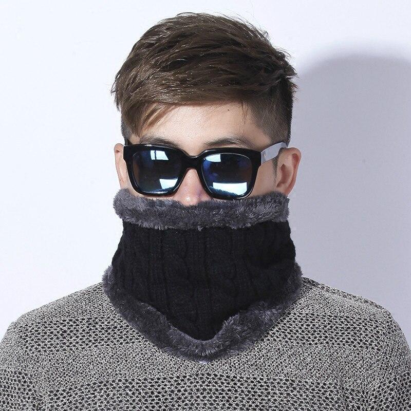 [Dexing] Unisex di Inverno Lavorato A Maglia Sciarpe ghetta Più Lana Cotone Collare sciarpa Dello Scaldino Donna Crochet Anello Uomini Loop Sciarpa di collo
