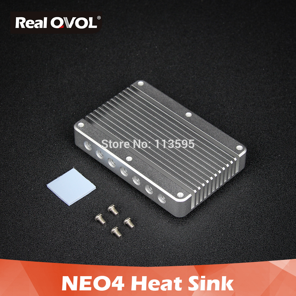 RealQvol FriendlyELEC NanoPi NEO4 Heat Sink Pure Aluminum HeatSink Anodizing