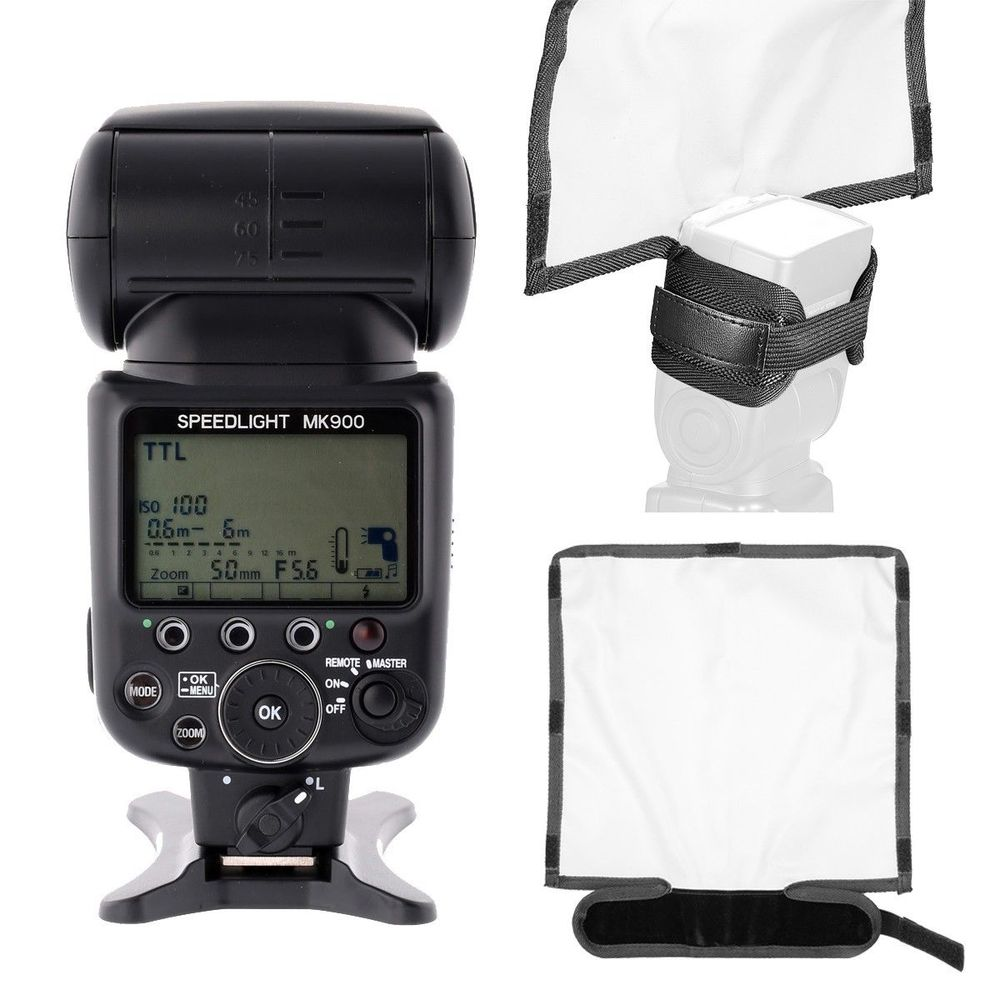 Meike MK-900 i-TTL Flash Speedlite For Nikon + flash Softbox Diffuser the function as SB-900