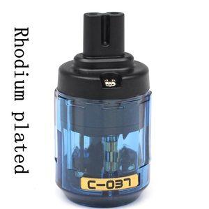 Image 1 - Hifi 1 pièces plaqué Rhodium Audio royaume uni/ue/états unis/AU câble dalimentation IEC connecteur prise adaptateur Figure 8 adaptateur secteur