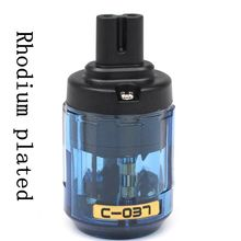 Hifi 1 stücke Rhodium überzogene Audio UK/EU/US/AU power kabel IEC stecker buchse stecker adapter abbildung 8 AC Power Adapter Stecker