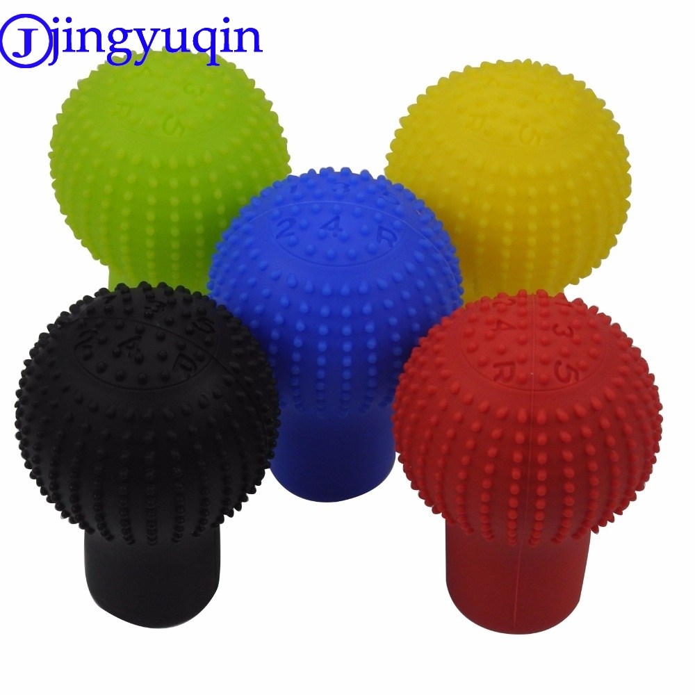 Jingyuqin Colorful Popular Universal Interior Decoration Gear Shift Collars Silicone Head Shift Knob Cover Case Handbra For Car