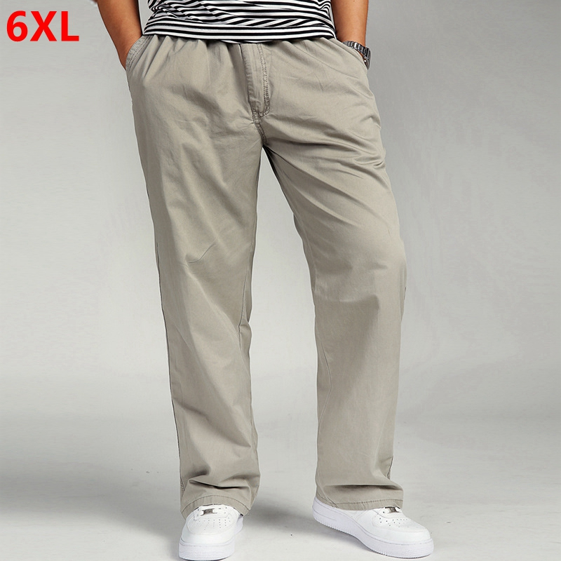 Spring and autumn thin large yards cotton casual pants trousers and loose 6xl fertilizer processing overalls plus size pants