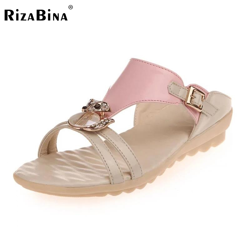 Ladies Flats Sandals Rhinestone Flip Flop Slipper Open Toe Sandal Buckle Summer Shoe Women Beach Vacation Footwear Size 35-40 ree shipping high quality pokemon plush toys 12 cute sylveon dols anime cartoon stuffed toys for children