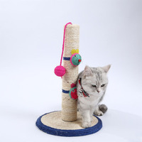 Cats Climbing Frame with Hanging Ball pet toys scratching post binding rope for cat sharpen claw Jumping Training Toy