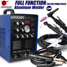 IGBT Pulse TIG/MMA Aluminium Welder 200A AC/DC 7 in 1 Milti-function Welding Equipment 50A Plasma Cutter Welding Machine 220v 3 in1 multi functionplasma cutter mma tig w elder set display welding machine for welding