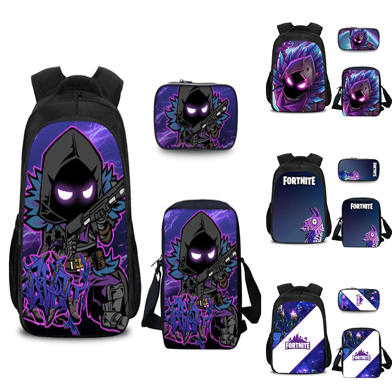 Game Fortress Night Backpack Cartoon Character Children Knapsack Girls Boys Backpack Bags Unisex Three Packages