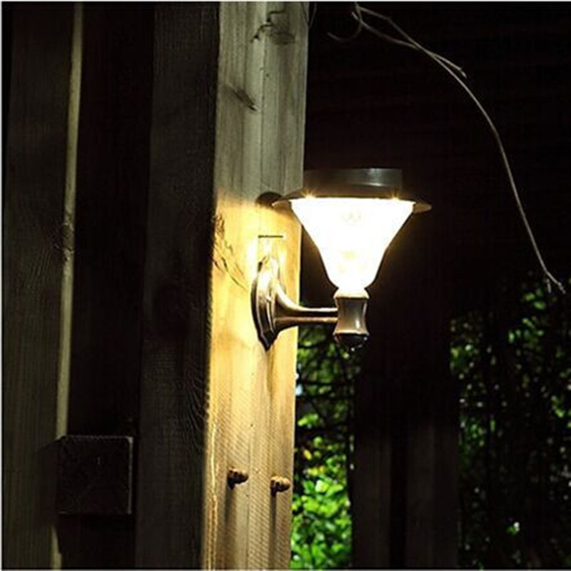 Solar Outdoor LED Light Fixture, Pole/Post/Wall Mount Kit, For Patio