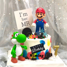 topper cake decoration birthday boy toys kids children gift cupcake toppers decorating super mario
