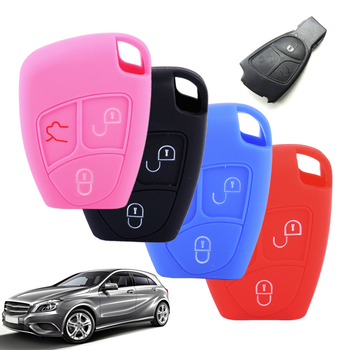 DWCX 3 Button Silicone Remote Key Cover Protector Shell Case Fob Fit For Mercedes-Benz CL55 CL600 CL65 C230 C240 C280 C320 image