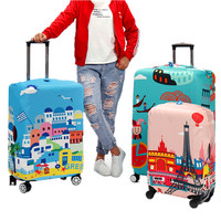 Waterproof Elastic Luggage Cover Cartoon Trolley Suitcase Student Kid Protect Dust Bag Case Travel Accessories Supplies