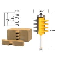 1PC Hard Alloy 1 4 Inch Shank Rail Reversible Finger Joint Glue Router Bit Tenon Woodwork