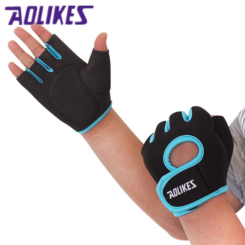 AOLIKES 1 Pair Brand Multifunction Fitness Sport font b Gloves b font Gym Half Finger Weightlifting