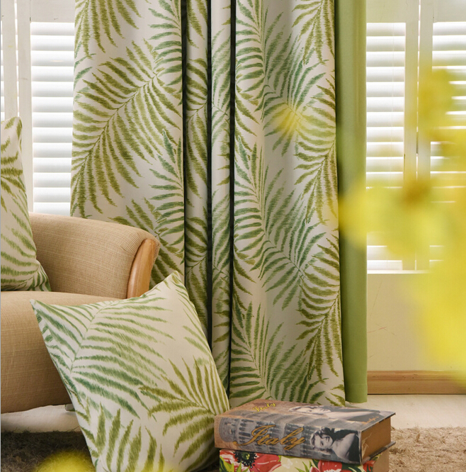 buy 2016 new hawaiian tropic curtains for living room rideaux pour le salon. Black Bedroom Furniture Sets. Home Design Ideas