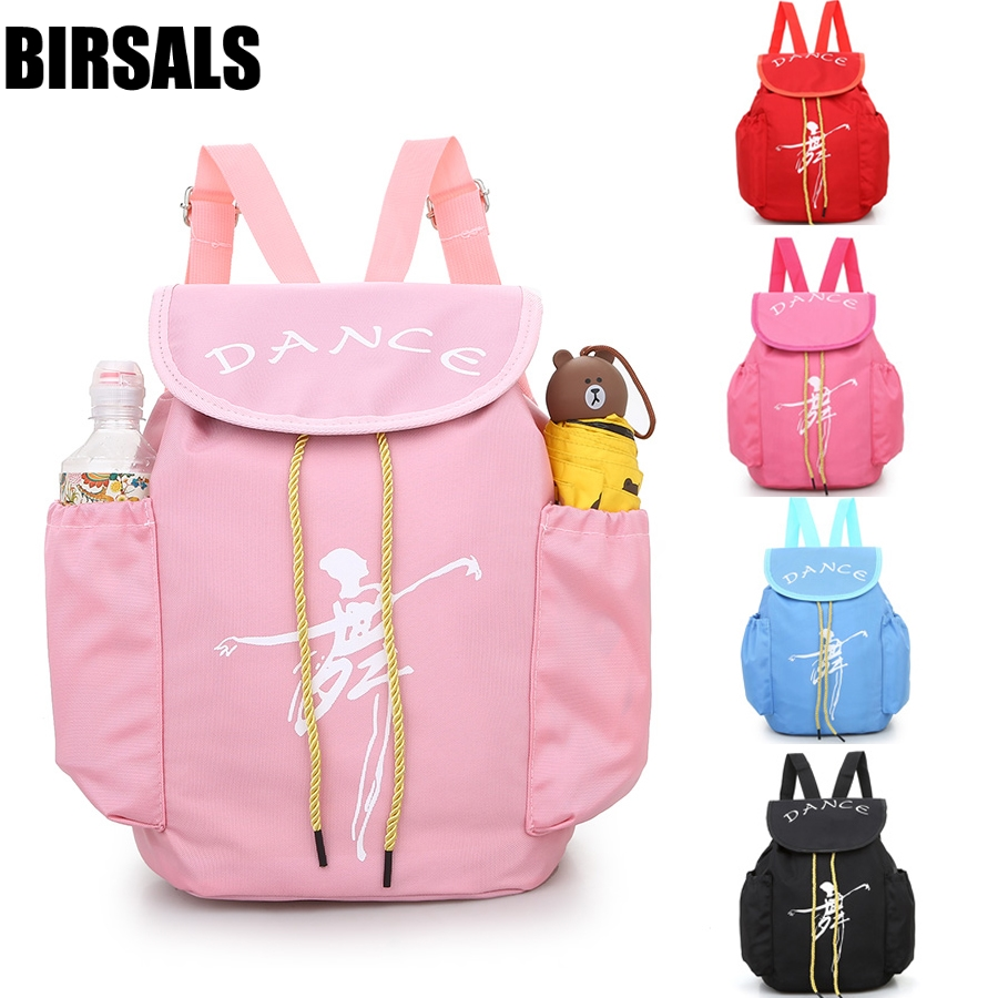 Pink Ballerina Ballet Gift Child Kids ballet bag Backpack Waterproof canvas Dance Bags AS8658