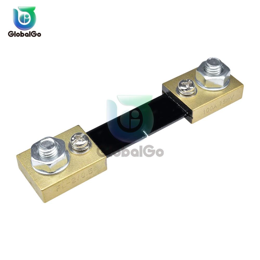 Digital Ammeter External Shunt FL-2 Current Meter Measure Shunt Resistors 10A 20A 30A 50A 100A 75mV Metal Plastic