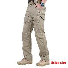 Новые мужские водонепроницаемые рабочие карго длинные штаны с карманами свободные брюки NDJ