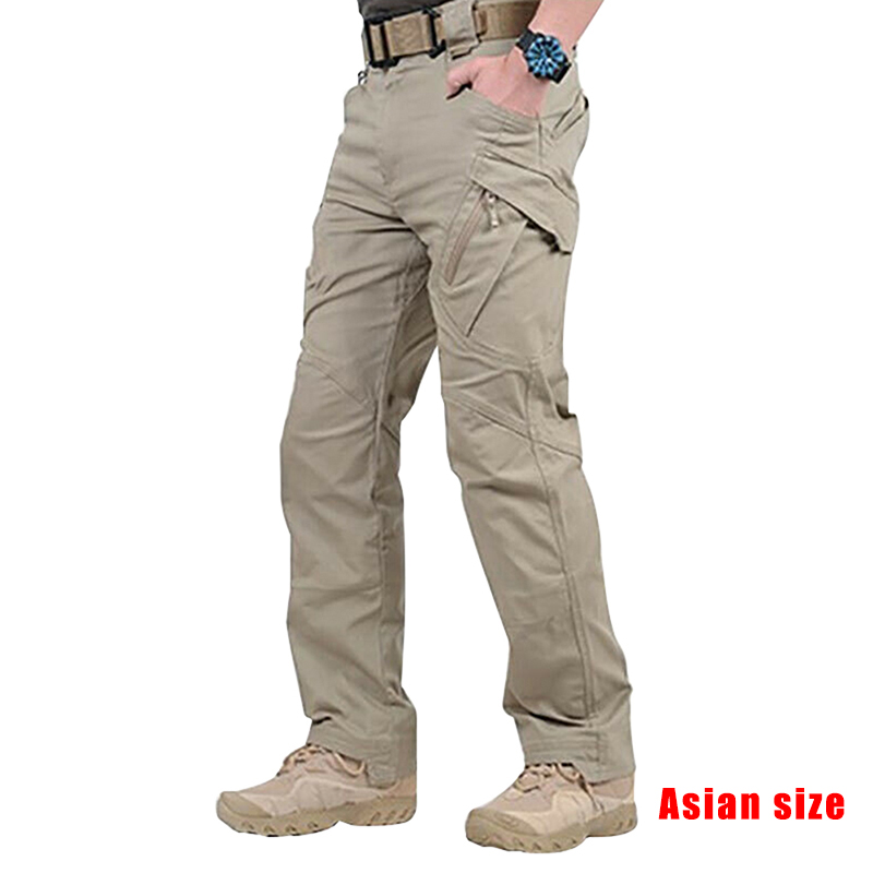2019 Newly Men Waterproof Work Cargo Long Pants With Pockets Loose Trousers NDJ