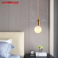 Copper LED Pendant Lights Fixtures For Bedroom Dining room Kitchen Living  lampara techo colgante E27 Nordic Bar Light